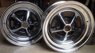 Centered Restored Ford Mopar Magnum 500 Chrome Wheels Set of 2