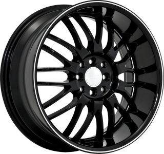 4x100 4x4 5 Black Machined Wheels Rims 4 Lug Honda Nissan Toyota 3 Lip