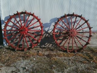 18 27 Hart Parr or Oliver 80 Antique Tractor Rear Steel Wheels