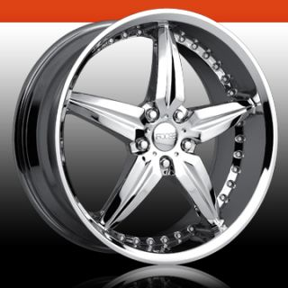 Speedster 5 Lug 5x120 Chrome 20 Single Replacement Wheel Rim