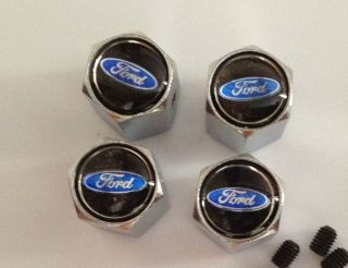 Chrome Ford Tire Valve Stem Cover Caps Explorer Quality TR 413