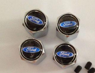 Chrome Ford Tire Valve Stem Cover Caps Explorer Quality TR 413