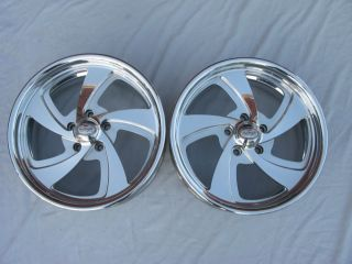 Boyd Coddington 18 x 7 Rodder Polished Aluminum Wheels Pair