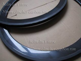 700c 50mm Carbon Clincher Rim Carbon Road Bike Clincher Rim