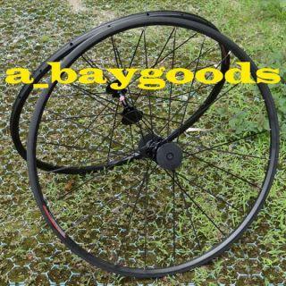 700c Road Bike Tubular Wheelset Rim Hub Spoke Skewer 20mm