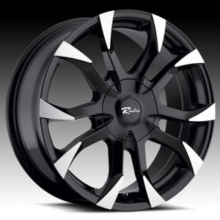 17 Inch Black Raceline Black Vector Wheels Chevrolet Cruze Sonic