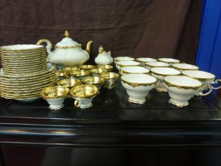 Tea Set by Rosenthal Selb Germany Pompadour 46pieces Gold Rim