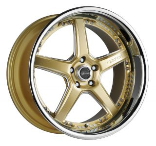 20 VERTINI DRIFT GOLD RIMS WHEELS NISSAN 350Z 370Z G35 COUPE FORD