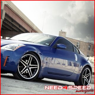370Z Rohana RC5 Machined Deep Concave Staggered Wheels Rims