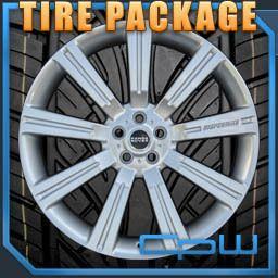 24 inch Silver Range Rover Wheels Rims w Tire Sport LR3 LR4 Stormer
