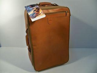 Luggage Belting Leather 22 Carry On Suitcase Wheeled Rolling Wheels