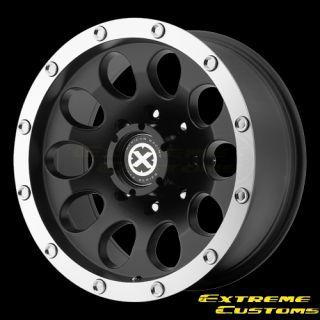 AX186 Slot Black Machined 5 6 8 Lugs Wheels Rims Free Lugs