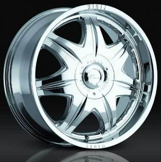 20 Chrome Zinik Wheels Rims Chevy Chevrolet GM 6x5 5 6 Lug Truck