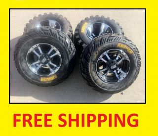 ITP SS112 Black Machine Rims on CST Ambush Tires Wheels Kit