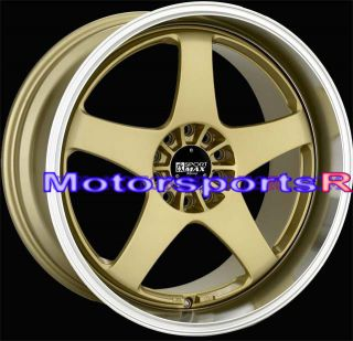 18 XXR 962 Gold Machine Lip Staggered Rims Wheels 05 09 10 11 Ford