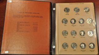 1999 P D S T 1 2 PROOF SUSAN B ANTHONY COMPLETE 18PC BU SET W WIDE RIM