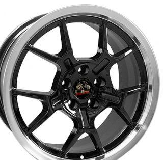 18 Rim Fits Mustang® GT4 Wheels Black 18x9 Set of 4