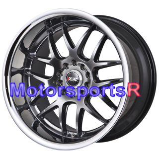 17 XXR 526 Chromium Black Rims Staggered Wheels Deep Dish Lip 04