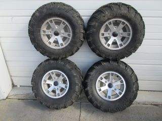07 Can Am Outlander 400 Front Rear Wheels Rims Tires