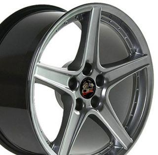18 Rim Fits Mustang® GT Saleen Wheels Hyper Silver 18x9