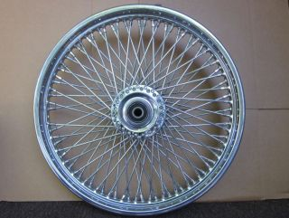 Harley Davidson 21 inch Chrome 80 Spoke Laced Custom Wheel Like New