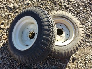 Case 446 Tractor Good Year 8 16 Rear Tires Rims