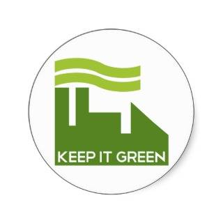 Corporate Keep Green Stickers