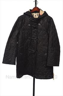 New Burberry Brit Metcalfe M 8 10 Coat Jacket Puffer Toggle Quilt