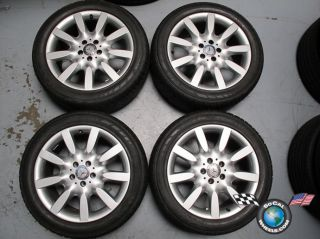 03 11 Mercedes S550 S600 Factory 18 Wheels Tires OEM Rims 65465