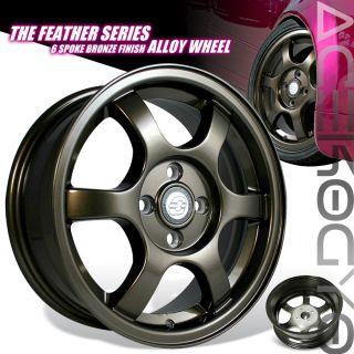 07 08 Toyota Yaris s 15 Wheel Rim 4x100 2 4DR Bronze