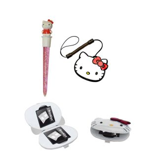 Hello Kitty Glam Set Game Case Spiele Hülle Stift fü Nintendo DSi DS