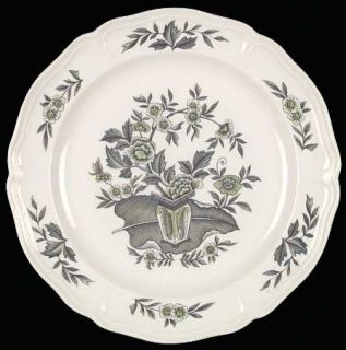 Wedgwood Green Leaf (QueenS Shape) Dinner Plate, Fine China Dinnerware   Queen
