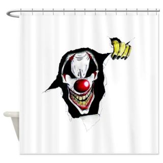 CafePress Evil Clown Shower Curtain Free Shipping! Use code FREECART at Checkout!