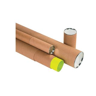 Telescoping Round Mailing Tube   3Dia.X30L   Kraft   Lot of 24