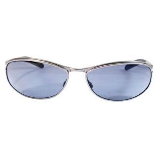 97723621a2 Oval Wraparound Sunglasses Gunmetal on PopScreen