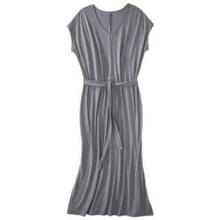 Merona Womens Plus Size Short Sleeve V Neck Maxi Dress   Gray 2