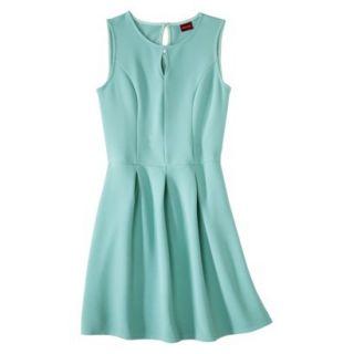 Merona Womens Textured Sleeveless Keyhole Neck Dress   Sunglow Green   M