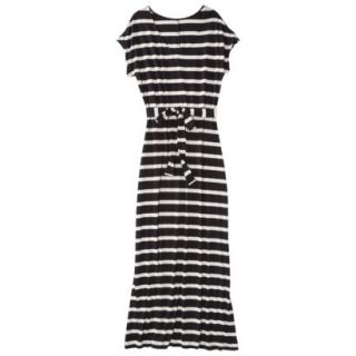 Merona Petites Short Sleeve V Neck Maxi Dress   Black/Cream SP