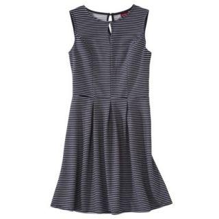 Merona Womens Textured Sleeveless Keyhole Neck Dress   Navy/White   XL