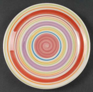 Gibson Designs Rosita Rainbow Salad Plate, Fine China Dinnerware   Multicolor Ba