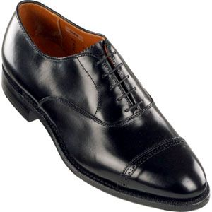 Alden Mens Perforated Straight Tip Bal Calfskin Black Shoes   901