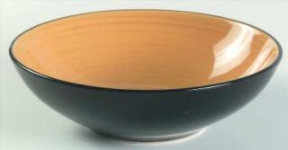 Thomson Kata Soup/Cereal Bowl, Fine China Dinnerware   Black Out,Yellow In,Coupe