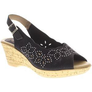 Spring Step Womens Keystone Black Sandals   Keystone BN