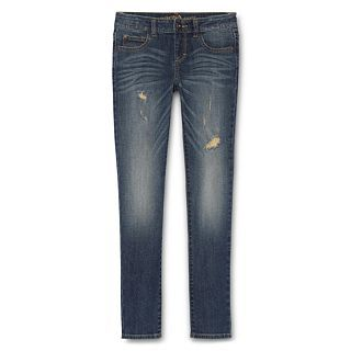 ARIZONA Destructed Glitter Skinny Jeans   Girls 6 16 and Girls Plus, Gold, Girls