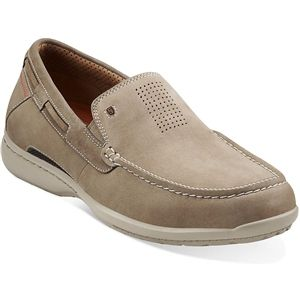 Clarks Mens Stoil Olive Nubuck Sandals 72448