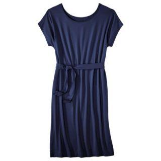 Merona Womens Knit Belted Dress   Xavier Navy   XL