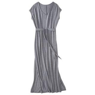 Merona Womens Knit V Neck T Shirt Maxi Dress   Heather Gray   XL