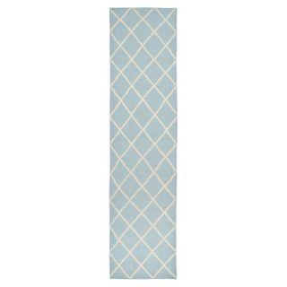 Safavieh Dhurries Light Blue/Ivory Rug DHU565B Rug Size: Runner 26 x 10