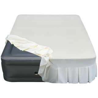Altimair Raised 20 inch Queen size Airbed With Perfectly Fitted Skirted Sheet Cover (Cream Cover specially designed for queen air beds Dimensions: 20 inches high x 60 inches wide x 80 longBefore using this product it is necessary to inflate it several tim