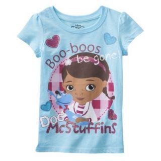 Disney Infant Toddler Girls Short sleeve Doc McStuffins Tee   Blue 12 M